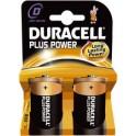 """DURACELL piles alcaline """"PLUS POWER"""", Mono D, blister de 2"""