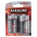"""ANSMANN Pile alcaline """"RED Line"""", Mono D, blister de 2"""
