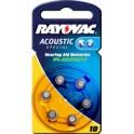 "RAYOVAC pile bouton pour aides auditives ""acoustic"","