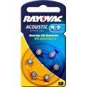"""RAYOVAC piles bouton pour aides auditives """"Acoustic"""","""