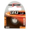 "ANSMANN Piles bouton d'alcaline ""LR44"", 1,5 Volts (V13GA)"
