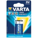 "VARTA Pile alcaline ""High Energy"", E-Bloc (9V/6LR61),"