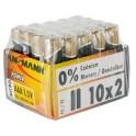"""ANSMANN pile alcaline """"X-Power"""", 9V e-bloc, présentoir de 10"""