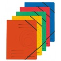 herlitz Chemise à élastique easyorga, A4, carton Colorspan,