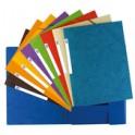 ELBA Chemise à élastique Top File, A4, en carton, bleu foncé