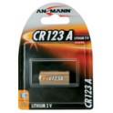 """ANSMANN Pile pour appareil photo lithium """"CR123A"""", 3 volt,"""