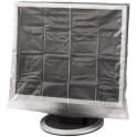 hama housse de protection pour écran, transparente, pour