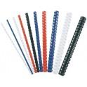 Fellowes baguettes à relier en plastique, A4, 21 anneaux,
