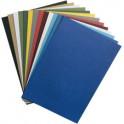 RAINEX Couverture de reliure grain cuir, A4, bleu royal