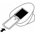 HEYDA Perforateur à motif Chat, petit, couleur: rouge